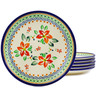 7-inch Stoneware Set of 6 Plates - Polmedia Polish Pottery H8917F