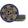 7-inch Stoneware Set of 6 Plates - Polmedia Polish Pottery H9985J