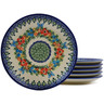7-inch Stoneware Set of 6 Plates - Polmedia Polish Pottery H9986J