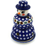 7-inch Stoneware Snowman Candle Holder - Polmedia Polish Pottery H3197H