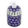 7-inch Stoneware Soap Dispenser - Polmedia Polish Pottery H2884H