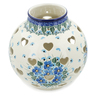 7-inch Stoneware Votive Candle Holder - Polmedia Polish Pottery H6966K