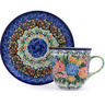 7 oz Stoneware Cup with Saucer - Polmedia Polish Pottery H0037G
