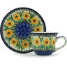 7 oz Stoneware Cup with Saucer - Polmedia Polish Pottery H1995H