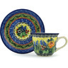 7 oz Stoneware Cup with Saucer - Polmedia Polish Pottery H2461H