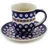 7 oz Stoneware Cup with Saucer - Polmedia Polish Pottery H3265K