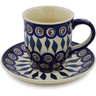 7 oz Stoneware Cup with Saucer - Polmedia Polish Pottery H3378K