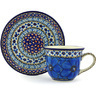 7 oz Stoneware Cup with Saucer - Polmedia Polish Pottery H3755G