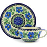 7 oz Stoneware Cup with Saucer - Polmedia Polish Pottery H3902F