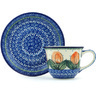 7 oz Stoneware Cup with Saucer - Polmedia Polish Pottery H4946H