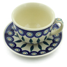 7 oz Stoneware Cup with Saucer - Polmedia Polish Pottery H5246J
