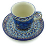 7 oz Stoneware Cup with Saucer - Polmedia Polish Pottery H5422I
