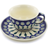 7 oz Stoneware Cup with Saucer - Polmedia Polish Pottery H5868C