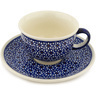 7 oz Stoneware Cup with Saucer - Polmedia Polish Pottery H8188C