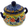 7 oz Stoneware Sugar Bowl - Polmedia Polish Pottery H2200K