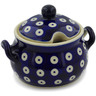 7 oz Stoneware Sugar Bowl - Polmedia Polish Pottery H2597K