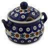 7 oz Stoneware Sugar Bowl - Polmedia Polish Pottery H2619K