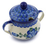 7 oz Stoneware Sugar Bowl - Polmedia Polish Pottery H2863A