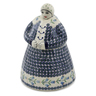 71 oz Stoneware Woman Shaped Jar - Polmedia Polish Pottery H6552K