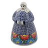 71 oz Stoneware Woman Shaped Jar - Polmedia Polish Pottery H6636K