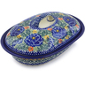8-inch Stoneware Baker with Cover - Polmedia Polish Pottery H7724I