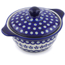 8-inch Stoneware Baker with Cover with Handles - Polmedia Polish Pottery H5966I