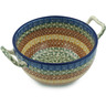 8-inch Stoneware Bowl with Handles - Polmedia Polish Pottery H3119I