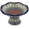 8-inch Stoneware Bowl with Pedestal - Polmedia Polish Pottery H0662G