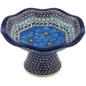 8-inch Stoneware Bowl with Pedestal - Polmedia Polish Pottery H0750G