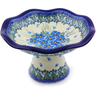 8-inch Stoneware Bowl with Pedestal - Polmedia Polish Pottery H0818I