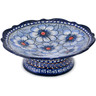 8-inch Stoneware Bowl with Pedestal - Polmedia Polish Pottery H5460J