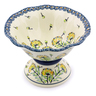 8-inch Stoneware Bowl with Pedestal - Polmedia Polish Pottery H8134I