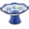 8-inch Stoneware Bowl with Pedestal - Polmedia Polish Pottery H9209A