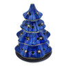 8-inch Stoneware Christmas Tree Candle Holder - Polmedia Polish Pottery H2870C