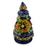 8-inch Stoneware Christmas Tree Candle Holder - Polmedia Polish Pottery H5588F