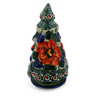 8-inch Stoneware Christmas Tree Candle Holder - Polmedia Polish Pottery H5632F