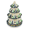 8-inch Stoneware Christmas Tree Candle Holder - Polmedia Polish Pottery H7035C