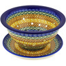 8-inch Stoneware Colander with Plate - Polmedia Polish Pottery H2134D