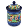 8-inch Stoneware Cookie Jar - Polmedia Polish Pottery H8234J