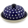 8-inch Stoneware Dish with Cover - Polmedia Polish Pottery H4340J