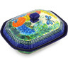 8-inch Stoneware Dish with Cover - Polmedia Polish Pottery H5660G