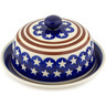 8-inch Stoneware Dish with Cover - Polmedia Polish Pottery H6438C