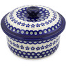 8-inch Stoneware Dish with Cover - Polmedia Polish Pottery H8859B