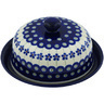 8-inch Stoneware Dish with Cover - Polmedia Polish Pottery H9649B