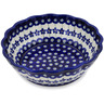 8-inch Stoneware Fluted Bowl - Polmedia Polish Pottery H1416L