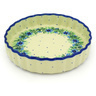 8-inch Stoneware Fluted Pie Dish - Polmedia Polish Pottery H8116D