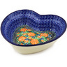 8-inch Stoneware Heart Shaped Bowl - Polmedia Polish Pottery H0367B