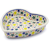8-inch Stoneware Heart Shaped Bowl - Polmedia Polish Pottery H1970I