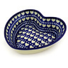 8-inch Stoneware Heart Shaped Bowl - Polmedia Polish Pottery H4080D