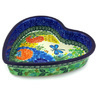 8-inch Stoneware Heart Shaped Bowl - Polmedia Polish Pottery H4876G